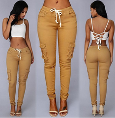 FASHION POCKET SHOW BODY PANTS