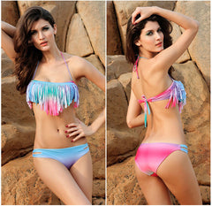 COLORFUL RAINBOW CUTE BIKINI