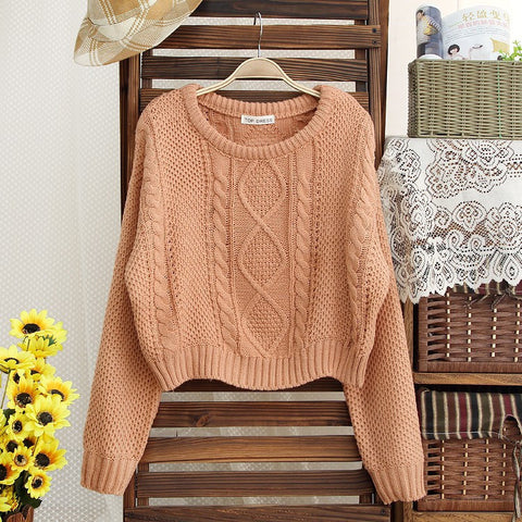 Fashion short woven sweaters