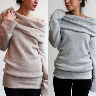 Fashion off shoulder sweater shirt