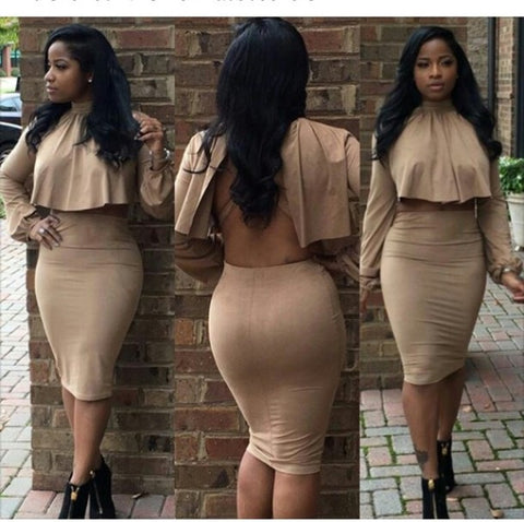 HOT CUTE TWO PIECE ELEGANT DRESS