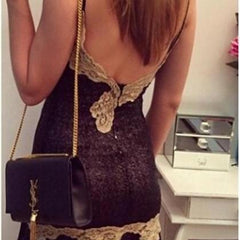 ON SALE GOLDEN LACE STITCHING BACKLESS LACE SEXY CONDOLE BELT