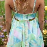 ON SALE PRINTED BACKLESS DRESS CUTE