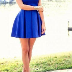 ON SALE CUTE HOT BLUE VEST DRESS