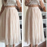 ON SALE HOT LACE TOP WITH SKIRT TWO PIECE DRESS
