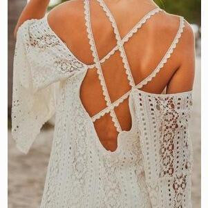 SEXY LACE STRAPS BEACH DRESS DRESS BIKINI TUNIC