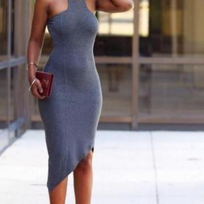 HOT GREY IRREGULAR DRESS
