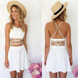 HOT HOLLOW OUT WAIST DESIGN SEXY FRESH DRESS
