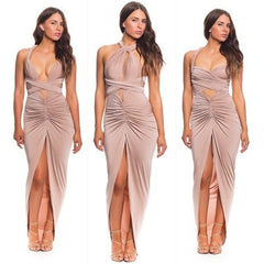 DRAPE DRESS STRAPLESS DRESS WITH MANY TEES IN FUNCTION