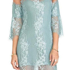 FAKE ONE WORD LACE DRESS