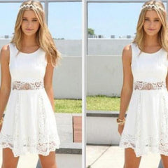 HOT WAIST LACE HOLLOW OUT DRESS