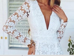 FASHION HOT LACE LONG SLEEVE JUMPSUIT