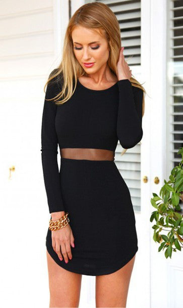 FASHION DESIGN SEXY WAIST DRESS