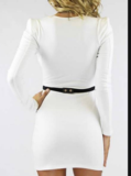 CUTE IRREGULAR LONG SLEEVE FASHION DRESS NO BELT