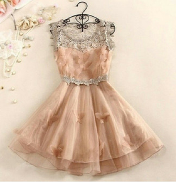 CUTE BOW FASHION FULL LACE BOW DRESS