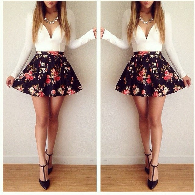 FASHION CUTE HOT FLOWER DRESS