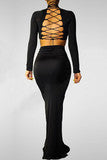 FASHION HOT LONG SEXY DESIGN DRESS TWO PIECES