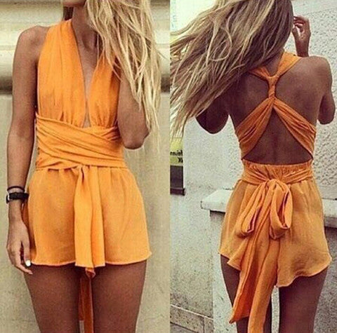 HOT SHORT DRESS ORANGE