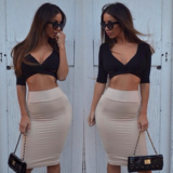 SEXY TWO PIECE HOT DRESS