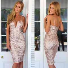 HOT SHINING SEQUINS STRAP DRESS