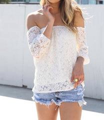 ONE WORD LACE TOP BLOUSE