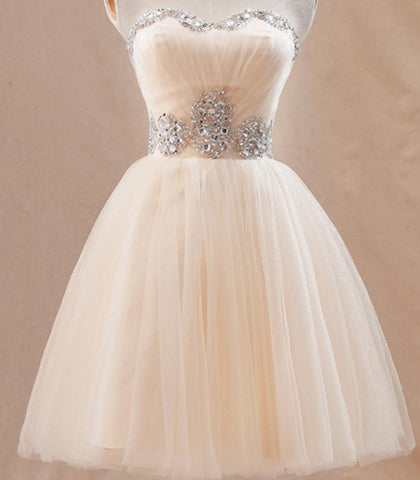 HOT STRAPLESS RHINESTONE DRESS