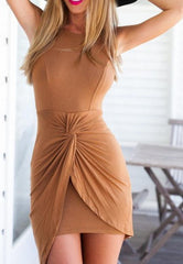 ACCEPT PLEATED DRESS SLEEVELESS PACKAGE BUTTOCKS CULTIVATE ONE'S MORALITY CHARACTERISTICS