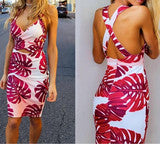 HOT FLOWER STRAP DRESS