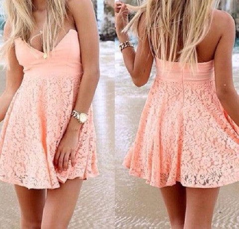 HOT ORANGE STRAPLESS DRESS
