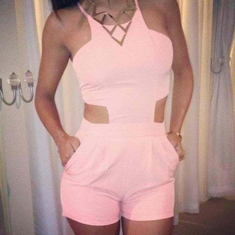 SEXY CUTE HOLLOW OUT PLAYSUIT JUMPSUIT