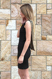 FASHION HOT BACKLESS QUINES SHINING BLACK DRESS