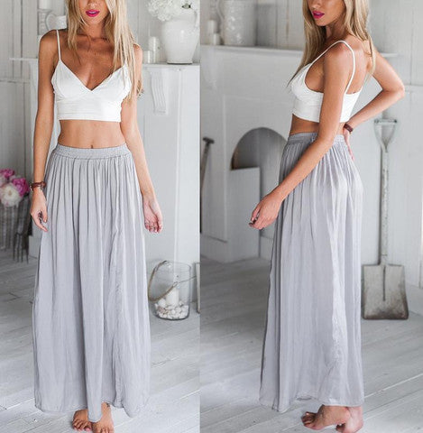 V-NECK SHOULDER DEWY UMBILICAL TWO-PIECE DRESS