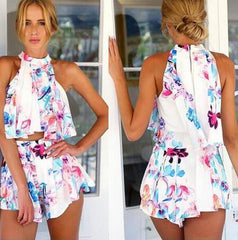 HOT TWO PIECE FLORAL DRESS SUIT