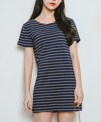 HOT STRIPE FREE SIZE DRESS