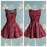 ON SALE ELEGANT ROSES PRINT NICE DRESS