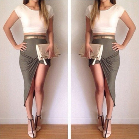CUTE HOT TWO PIECE DRESS