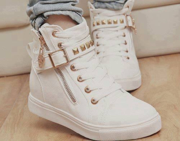 CUTE FASHION HOT ZIPPER CANVAS SHOES