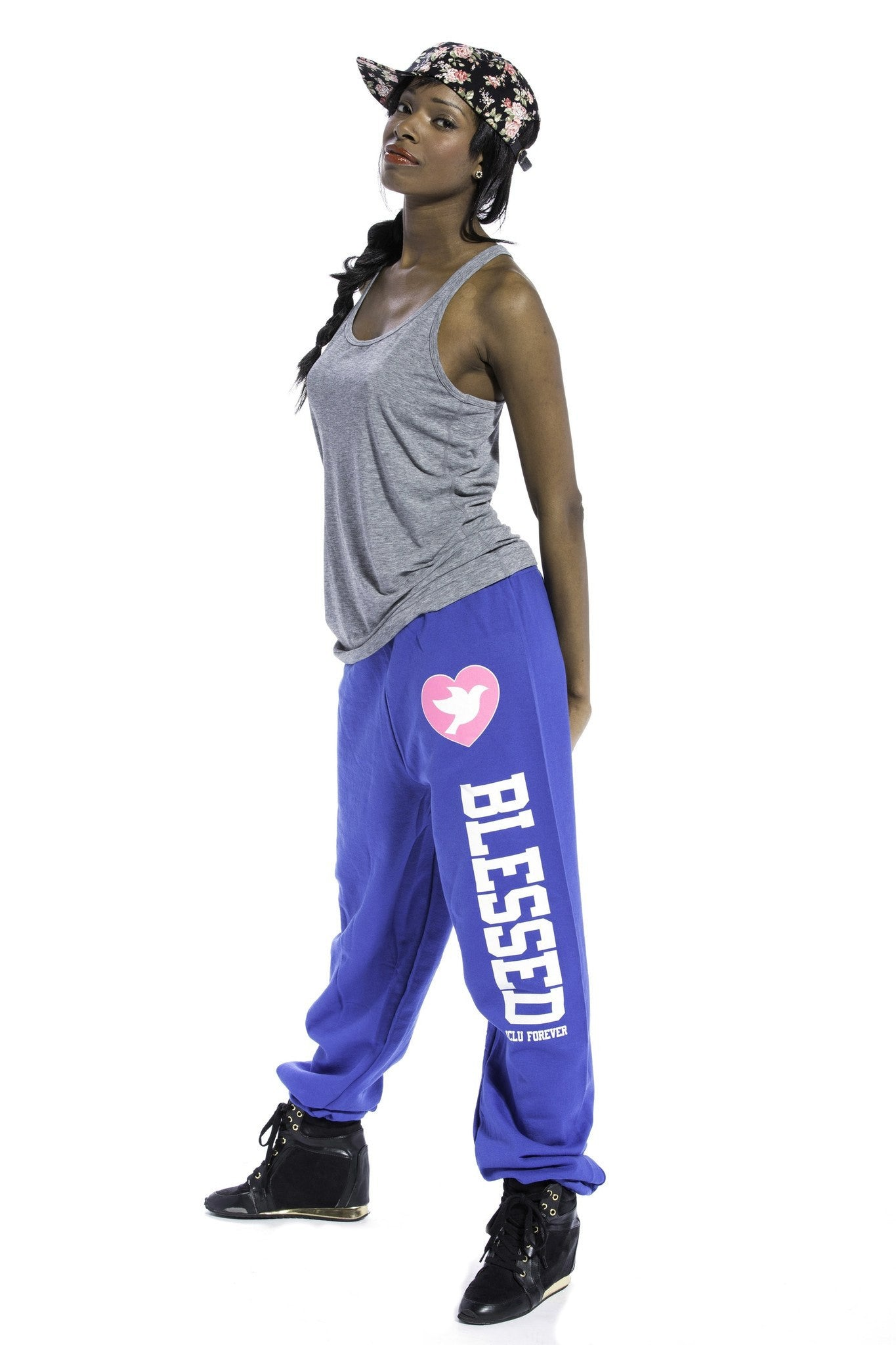 Blessed Sweatpants Royal Blue