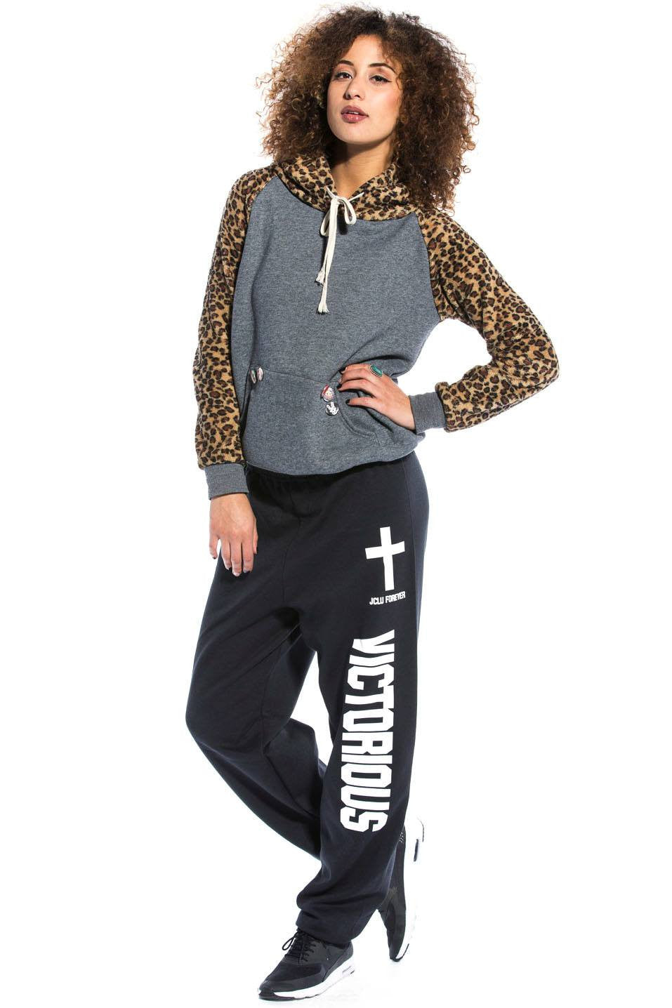 Victorious Sweatpants Black - JCLU Forever - 1