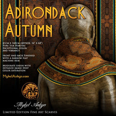 Adirondack Autumn - Mykel Ankyn Limited Edition Fine Art Scarves