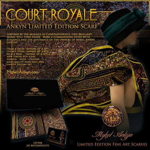 Court Royale - Mykel Ankyn Limited Edition Fine Art Scarves