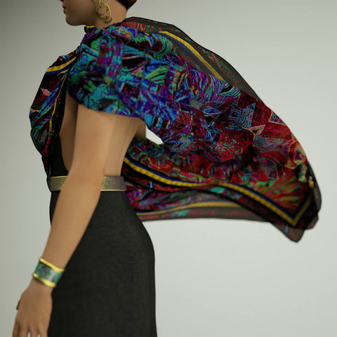 Fat Tuesday - Mykel Ankyn Limited Edition Fine Art Scarves