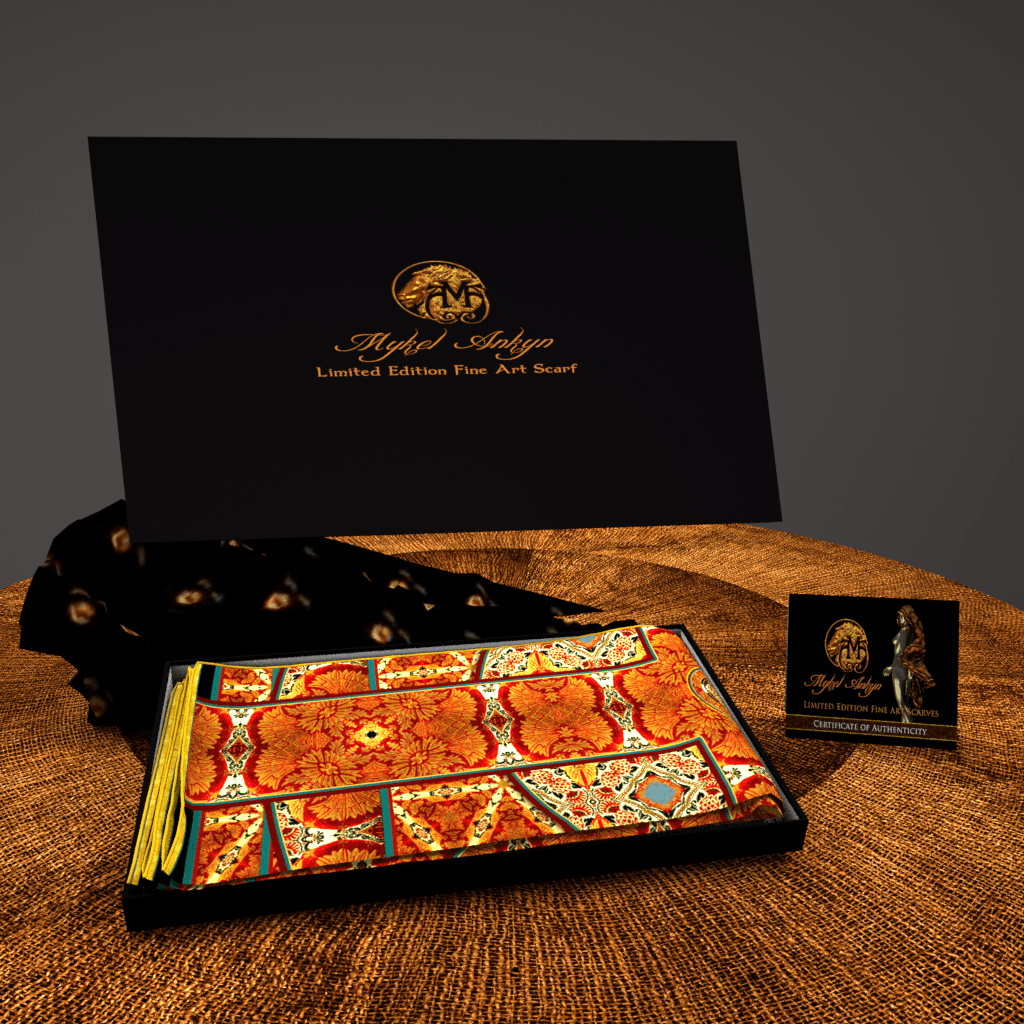 Mandarin Square - Mykel Ankyn Limited Edition Fine Art Scarves