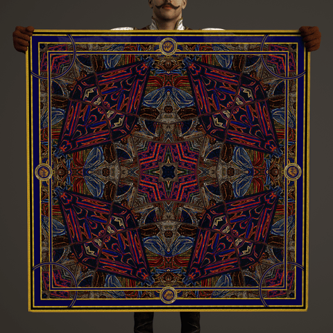 Compass - Mykel Ankyn Limited Edition Fine Art Scarves