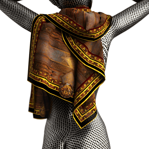Queen of Sheba Attendant - Mykel Ankyn Limited Edition Fine Art Scarves