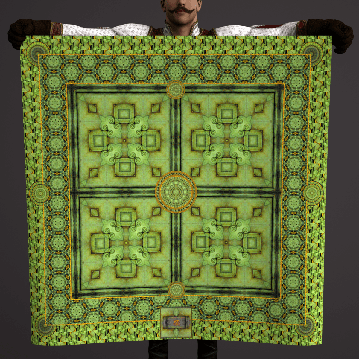 Courtyards of Jade - Mykel Ankyn Limited Edition Fine Art Scarves