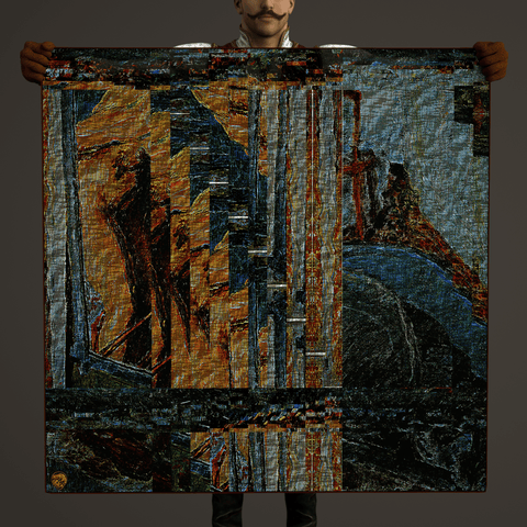 Folding Memory - Mykel Ankyn Limited Edition Fine Art Scarves