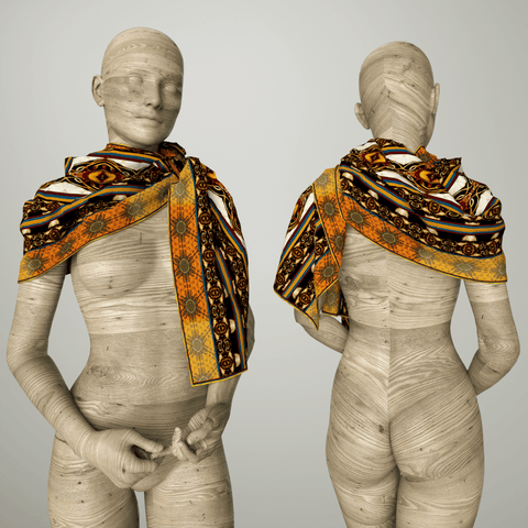 Havana Cafe - Mykel Ankyn Limited Edition Fine Art Scarves