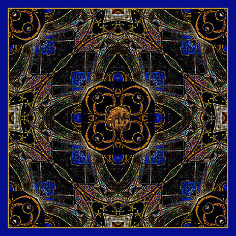 Chester's Sapphire - Mykel Ankyn Limited Edition Fine Art Scarves