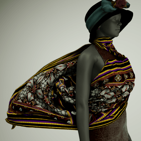 Nobleman - Mykel Ankyn Limited Edition Fine Art Scarves